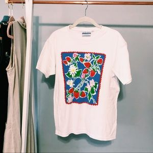 Vintage Strawberry & Flower Tee From David Smith